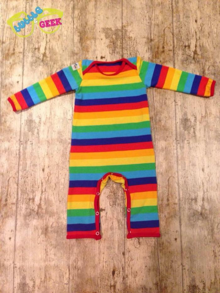 bubble and geek rainbow romper