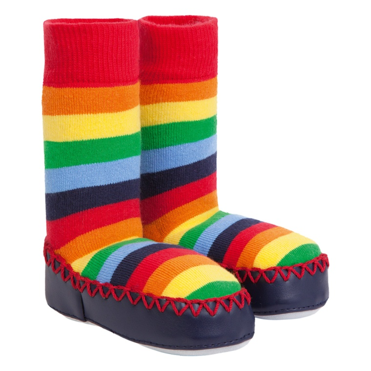 rainbow slipper socks