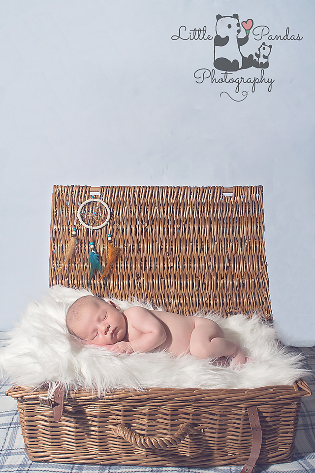 Newborn photography Hythe Kent baby in basket